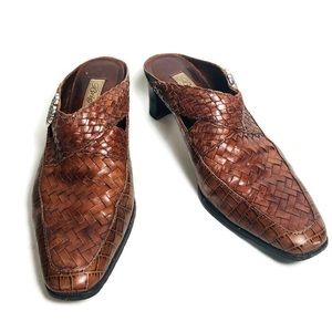 Brighton Woven Leather Mules